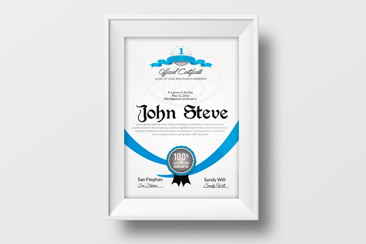 Vertical Certificate Templates example image 1