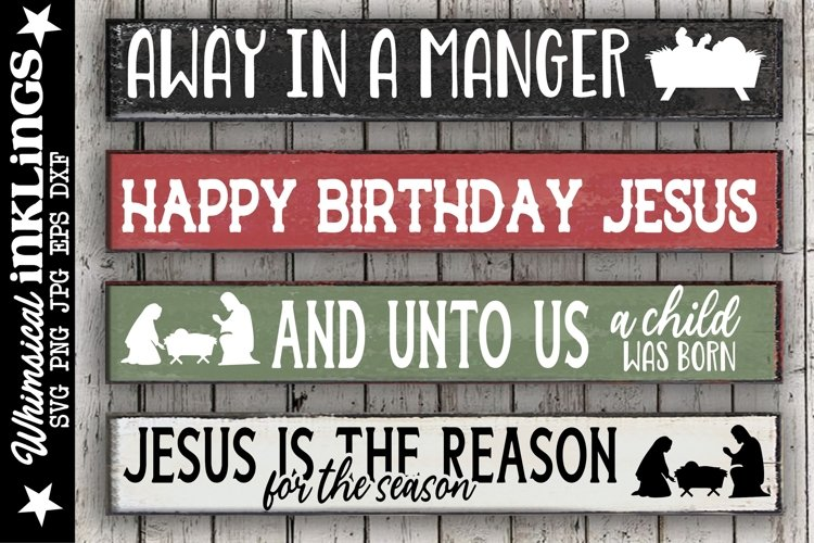 Away In A Manger-Christmas SVG Set