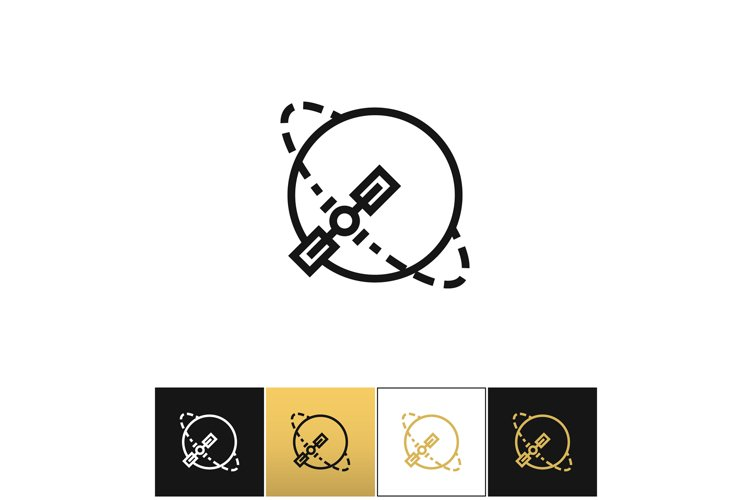 Silhouette navigation earth broadcast vector icon example image 1