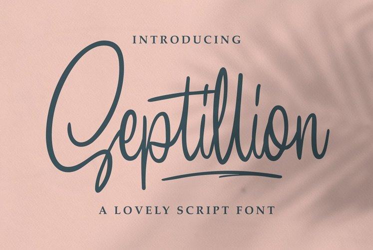 Septillion - Script Font example image 1