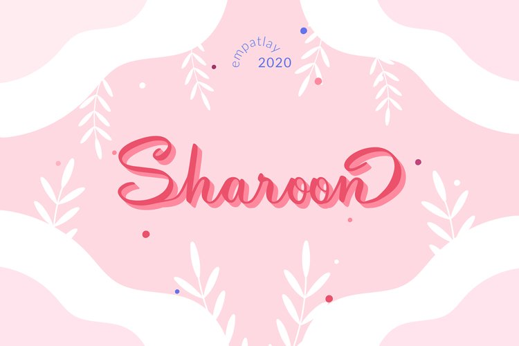Sharoon | Calligraphy Script Font example image 1