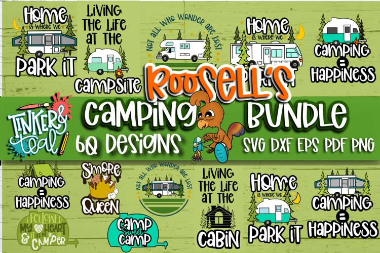 Roosell's Camping SVG Bundle example image 1