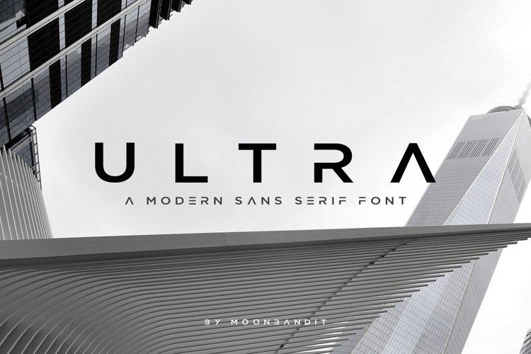 ULTRA - Modern Sans Serif Font
