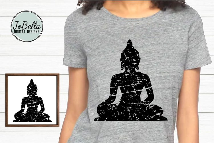 Distressed Buddha SVG, Sublimation Design and Printable