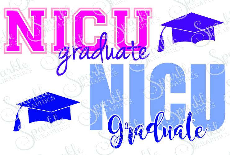 NICU Grad Cut File Set | SVG, EPS, DXF, PNG example image 1