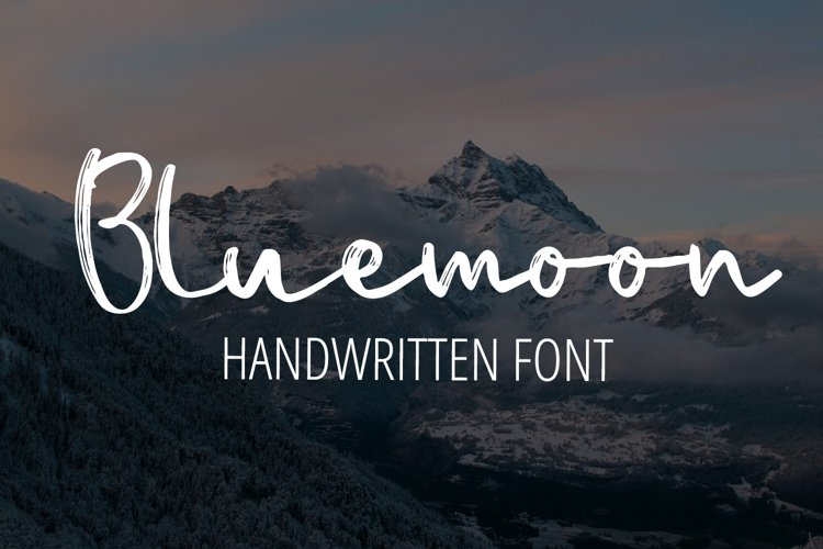Bluemoon - Handwritten Font example image 1