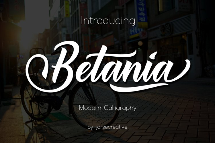 Betania Font example image 1