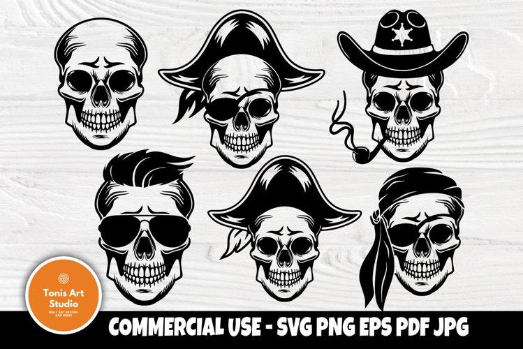 Skull SVG Bundle, Sugar Skull Svg, Halloween Svg Cut Files