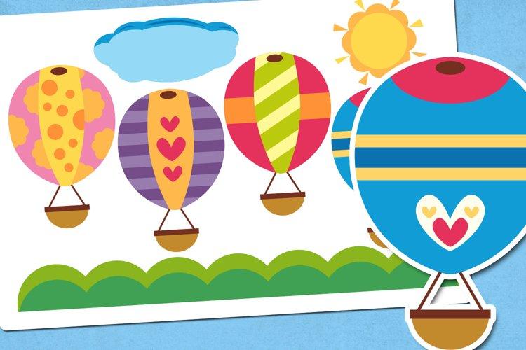 Summer Hot Air Balloons Illustrations