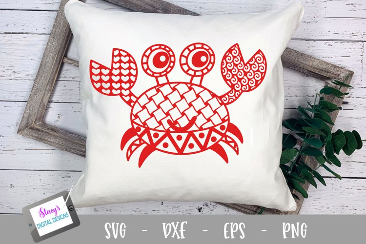 Crab Zentangle SVG - Crab with Doodle patterns