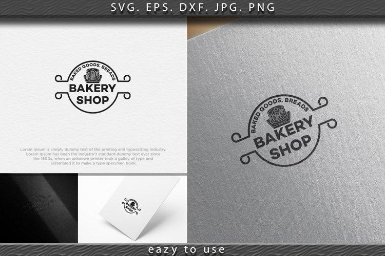pancake, vintage bakery logo Ideas. round label. Inspiration example image 1