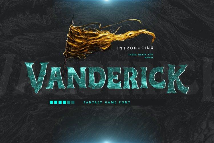 Vanderick - Game Font example image 1