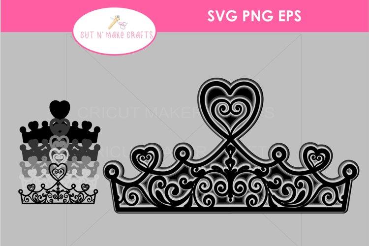 MULTILAYERED Tiara SVG, 3D FAIRYTALE Layered Mandala SVG example image 1