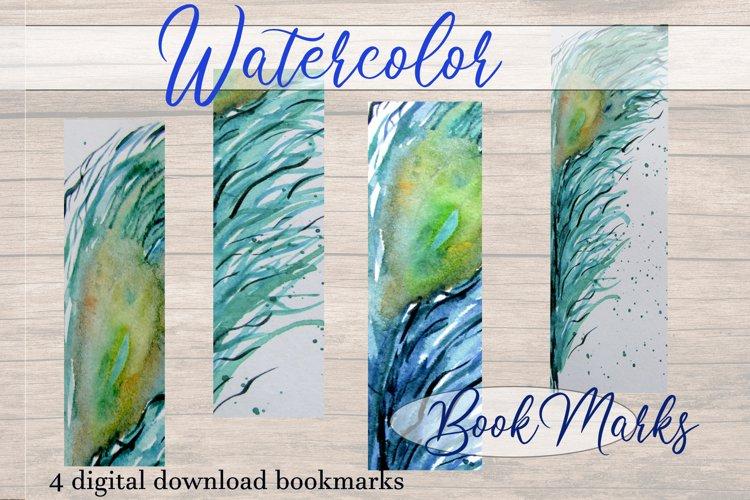 Watercolor Bookmarks | Bookmark Printing | Book Gift