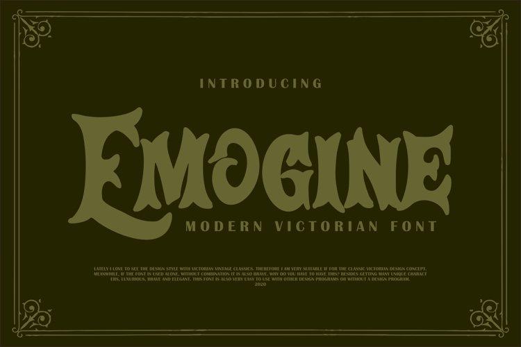 Emogine   Modern Victorian Font example image 1