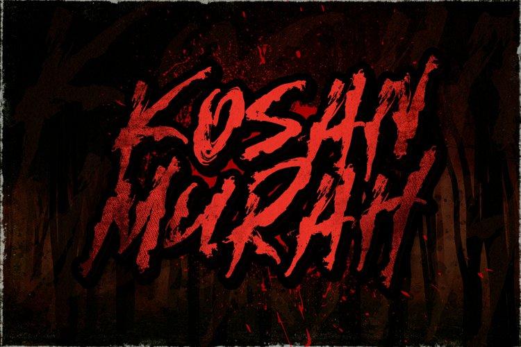 Kosan Murah! - Horror Font example image 1