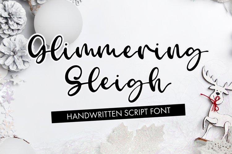 Glimmering Sleigh - Handwritten Script Font example image 1
