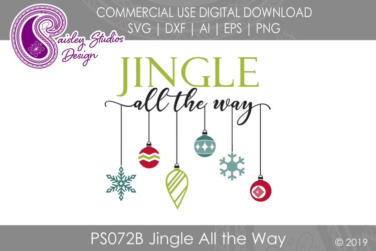 Jingle All the Way SVG DXF Ai EPS PNG example image 1