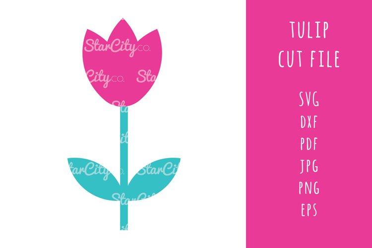 Tulip SVG Cut files, Tulip cutting files, flower cut file example image 1