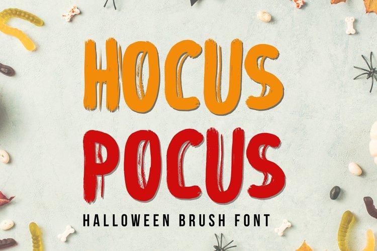 Hocus Focus - Halloween Brush Font