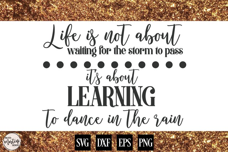 Life is Not About Waiting for the Storm to Pass example image 1