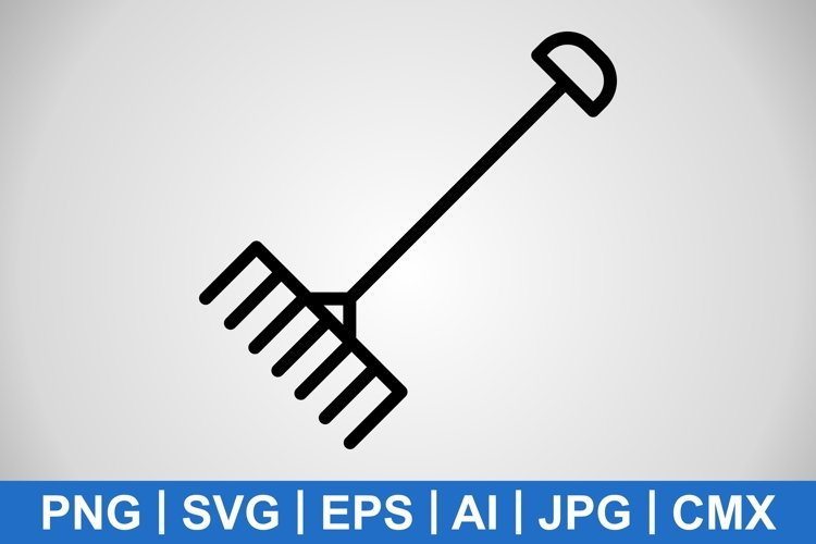 Vector Rake Icon example image 1