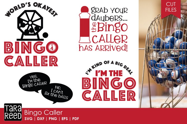 Bingo Caller SVG and Cut Files for Crafters