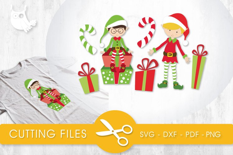 Elf Boys cutting files svg, dxf, pdf, eps included - cut files for cricut and silhouette - Cutting Files SVG example image 1