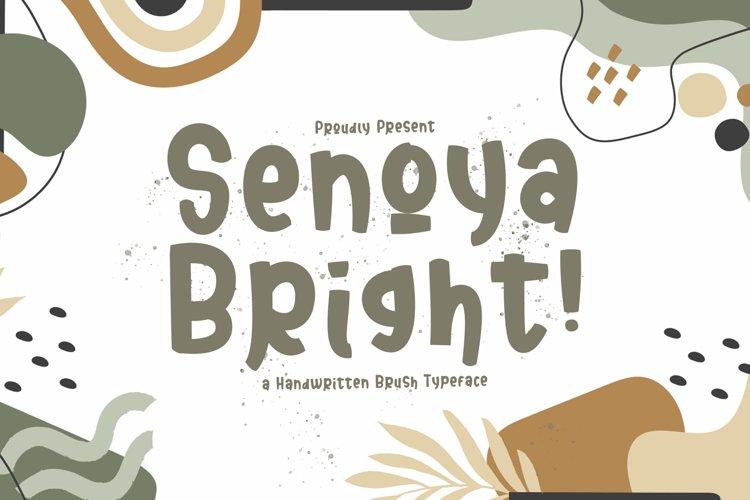 Senoya Bright - Playful Display Font example image 1