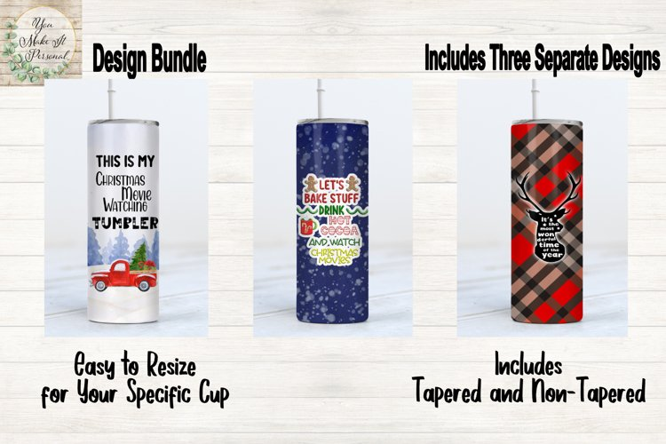 Sublimation Bundle, Holiday and Christmas Tumbler Designs example image 1