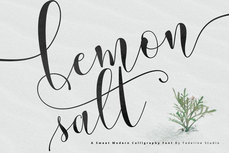Lemonsalt Sweet Font example image 1