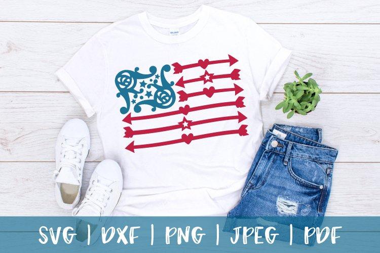 American flag svg, USA flag svg, 4th of july svg, png, dxf