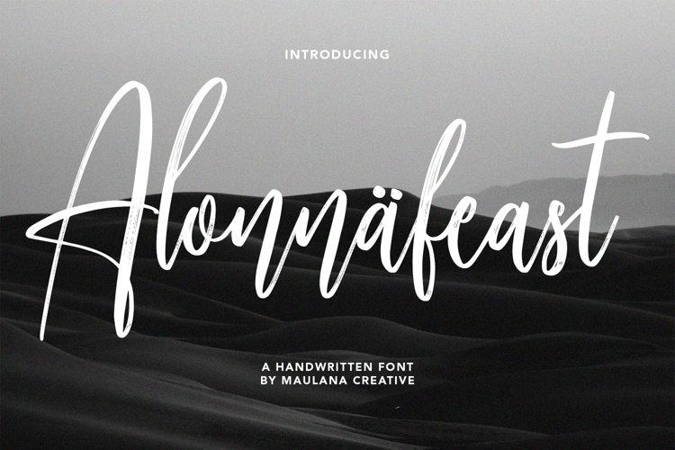 Alonnafeast Brush Script Font example image 1