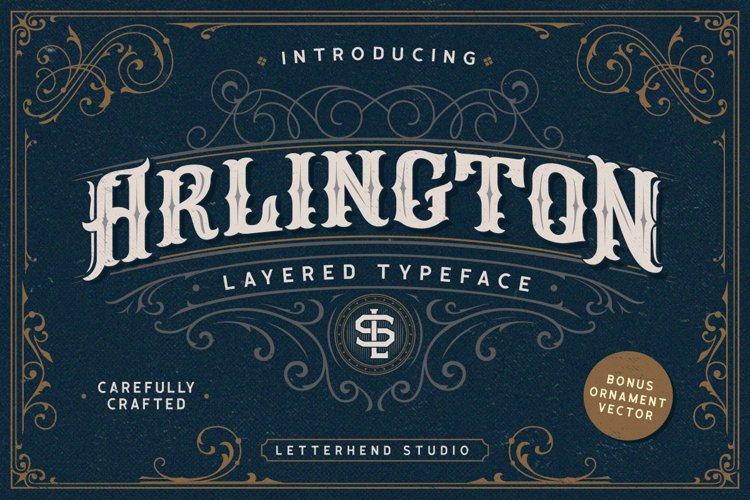 Arlington Layered Font & Ornaments example image 1