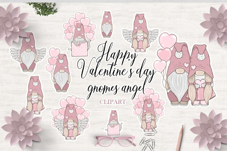 Valentine's day gnomes Bundle clipart Love angel example image 1