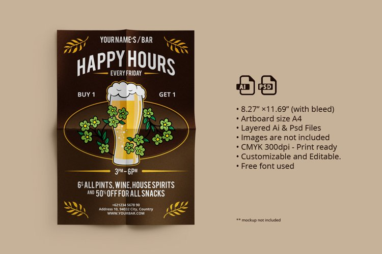 Oktober Fest/ Happy Hours Flyer 03 example image 1