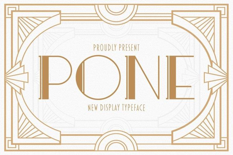 Web Font Pone example image 1