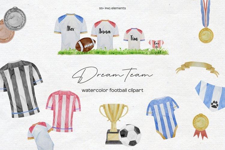 Watercolor Football Clipart