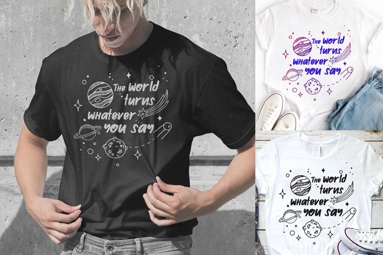 The world turns - Planets - Space - Cosmos SVG DXF EPS PNG