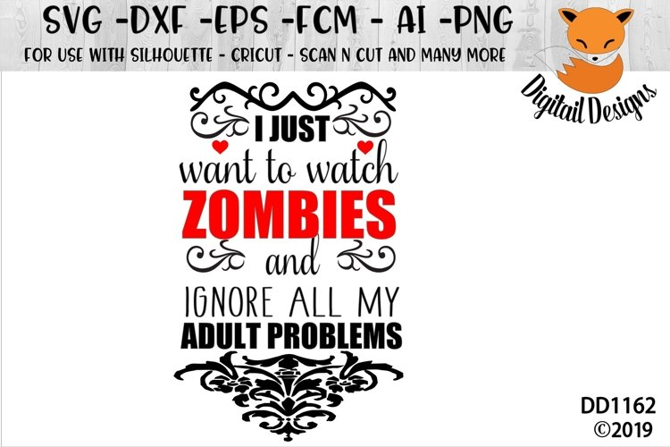 Funny Zombie SVG for Silhouette, Cricut, Scan N Cut