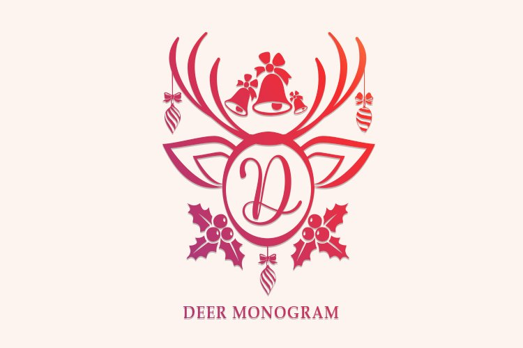Deer Monogram example image 1