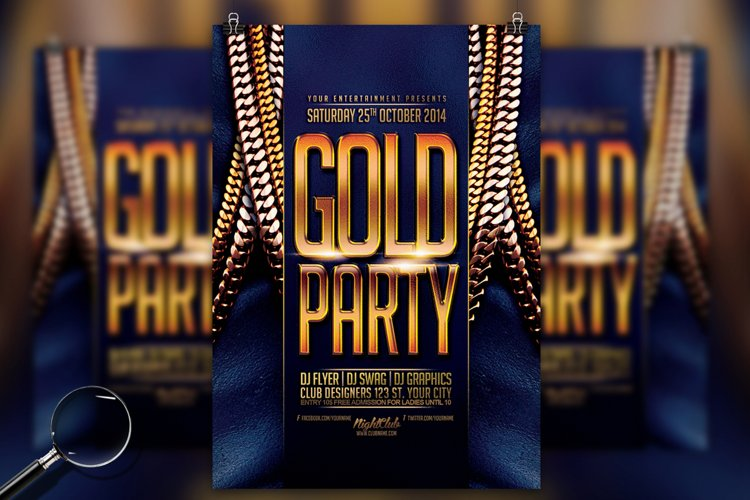 Gold Party | Urban Flyer Template example image 1