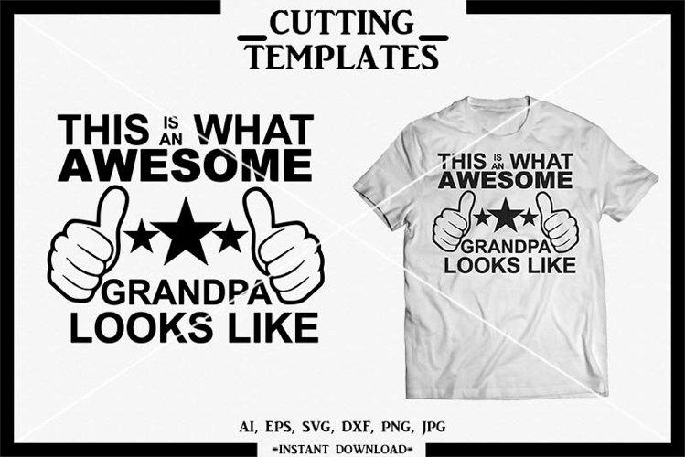 Grandpa SVG, Grandparents, Silhouette, Cricut, Cameo, SVG