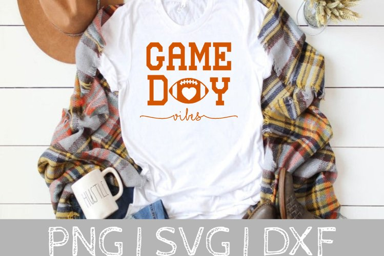 Game Day Vibes Football SVG Cut File example image 1