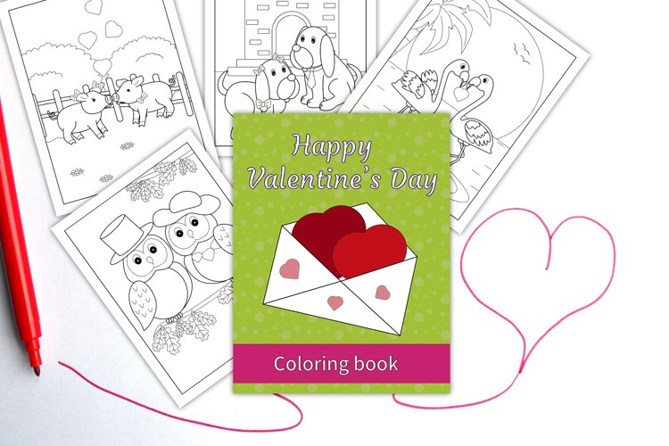 Coloring pages - Happy Valentines Day