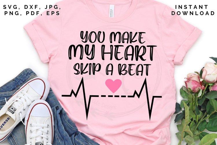 Heart skip a beat svg, Heart svg, Valentines Day svg