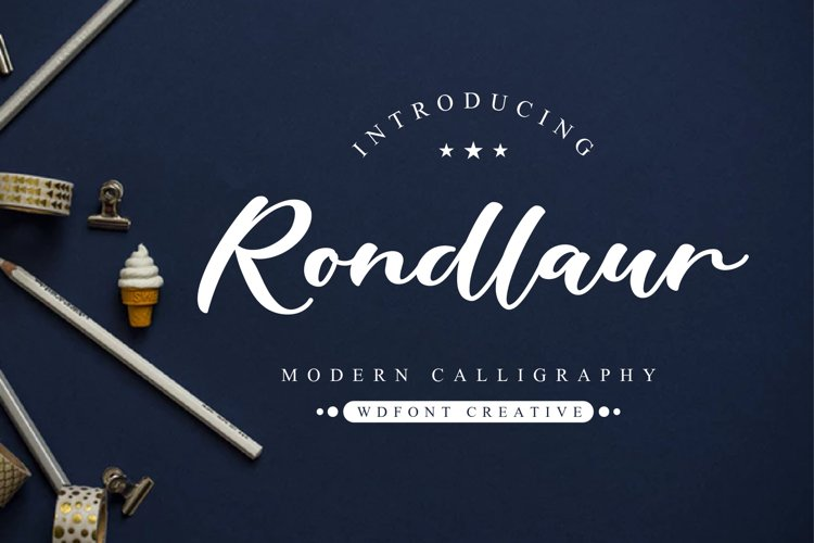 Rondlaur   Modern Calligraphy example image 1