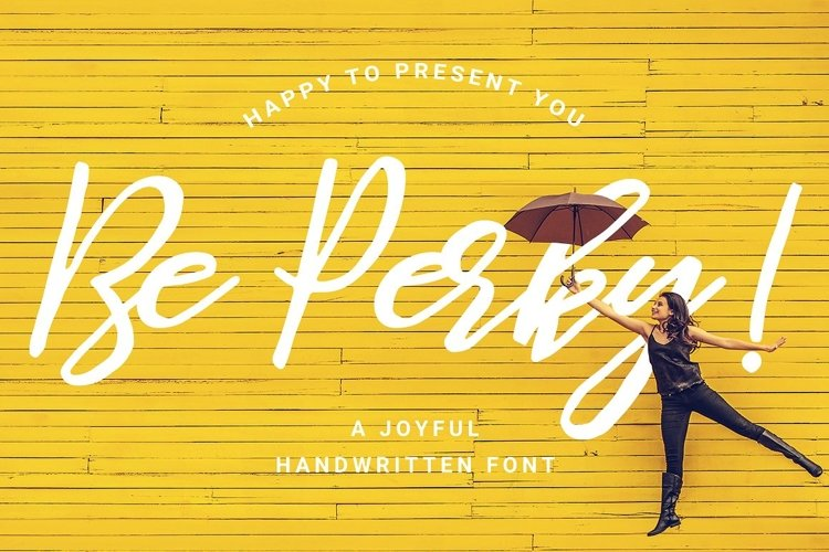 Be Perky! Handwritten Font / Brush Font example image 1