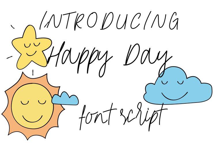 Happy Day Monoline Font Script example image 1