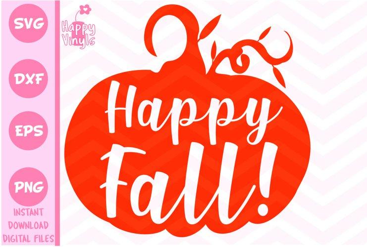Fall SVG Happy Fall SVG Pumpkin SVG example
